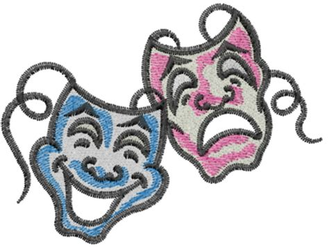 Embroidery Transparent drama masks embroidery design annthegran