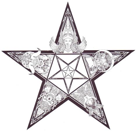 pentacle tattoo pin pentacle tattoos on
