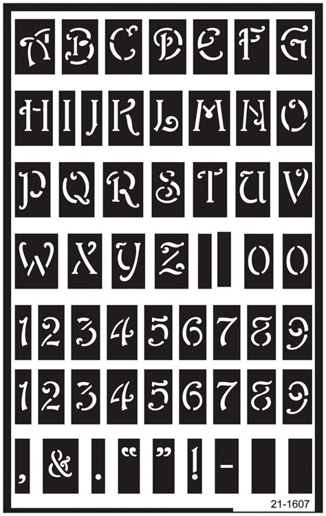 Stencils Free Entire Alphabet Over Reusable Glass Engraving Templates Letters