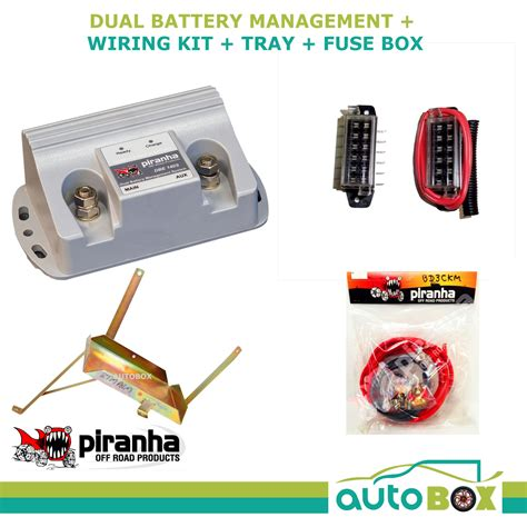 dual battery wiring kit piranha dual battery tray 140a kit mitsubishi pajero nm