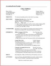 Resume Canada Format Accountant Resume Sample Canada Http Www Jobresume