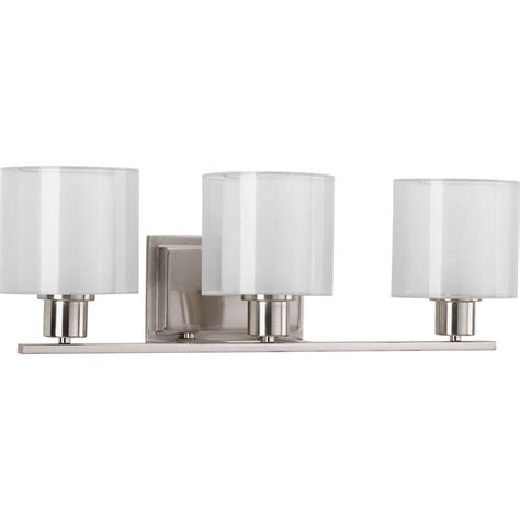 bathroom lighting collections progress lighting joy collection 1 light brushed nickel