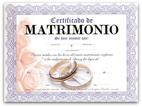 certificado de matrimonio para kermes actas de matrimonio de broma para kermes imagui