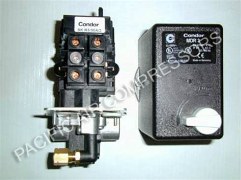mdr3 condor combo pressure switch magnetic starter 20 30 air compressor part pacific air
