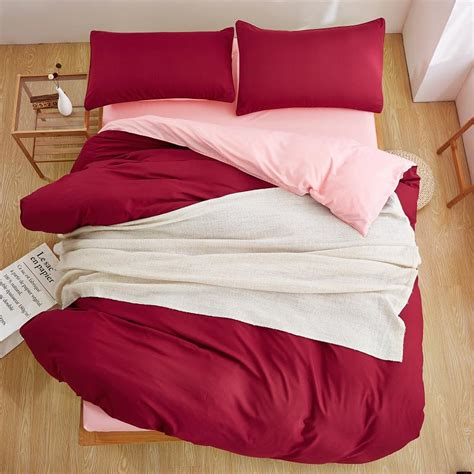 wine colored comforter sets winter new style double color wine red pink 3 4 pcs