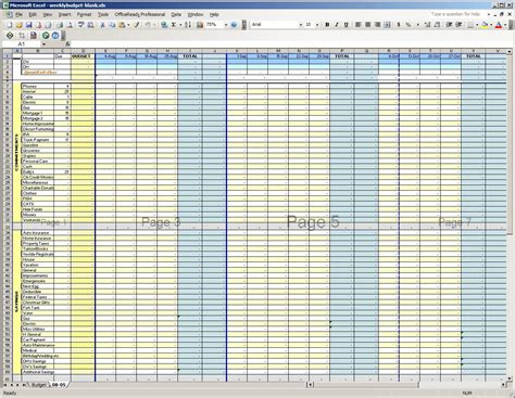 weekly budget spreadsheet template best photos of weekly budget worksheet weekly budget