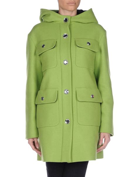 Moschino Coat boutique moschino coat in green lyst