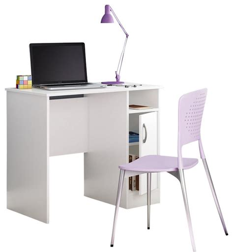 South Shore Small Desk South Shore Axess Small Desk In White Transitional Desks And Hutches