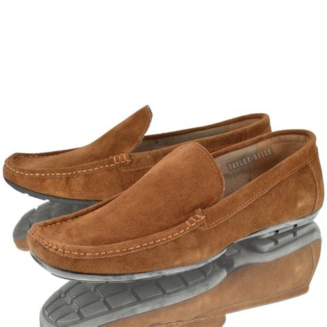 loafers boys mens suede leather driving shoes casual slip on boys