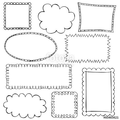 free doodle vector frame quot black doodle frames on white background quot stock image and