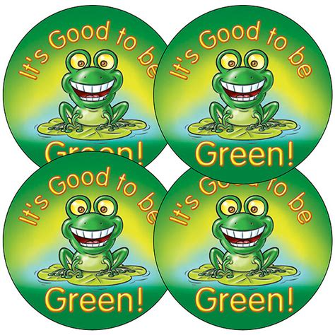 To Be Green Stickers