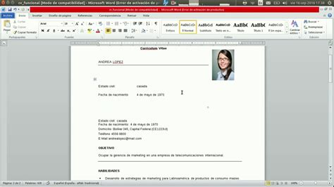 Modelo Curriculum Vitae Funcional Pdf Curriculum Vitae Modelo Funcional