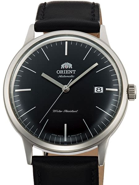 Orient Fune3001b0 Black Silver orient bambino version 3 2 automatic dress with black applied silver hour
