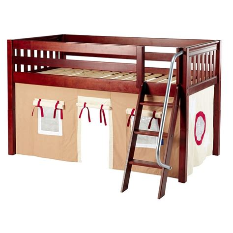 twin loft bed curtains bed with curtains twin low loft hardwood 3 finishes