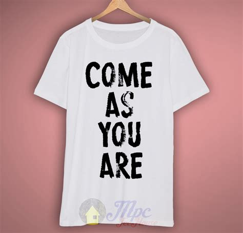 So Are You T Shirt come as you are nirvana lyrics t shirt mpcteehouse 80s tees