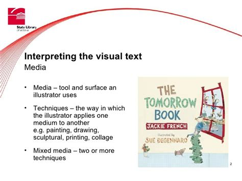 visual techniques in picture books visual literacy and picture story books