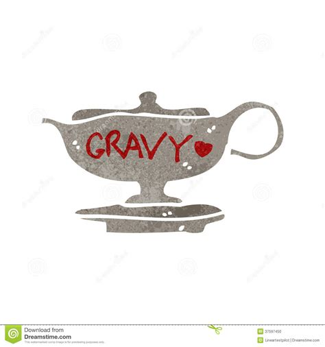 xl gravy boat retro cartoon gravy boat stock illustration illustration