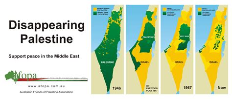 map of israel and palestine israel map before and after