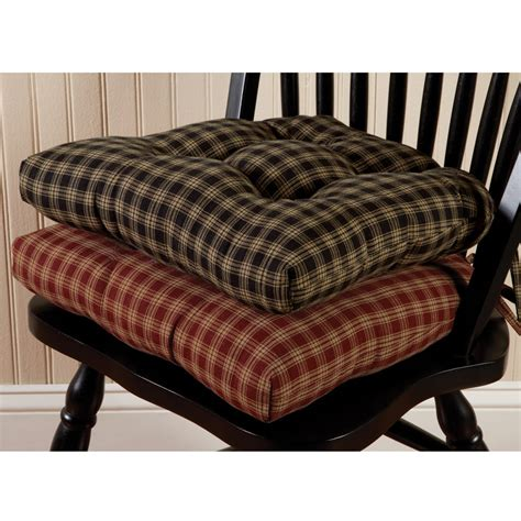 Black Dining Room Chairs by Sturbridge Plaid Chair Pad Sturbridge Yankee Workshop
