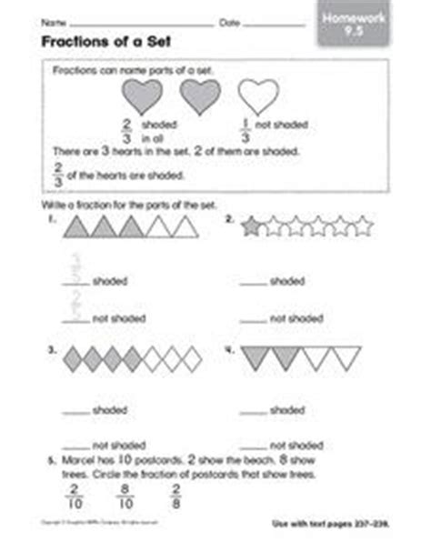 Fractions Of A Set Worksheets by Fractions Of A Set 1st 2nd Grade Worksheet Lesson Planet