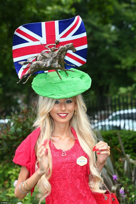 royal ascot hats royal ascot 2016 ladies keep up the trend for quirky hats