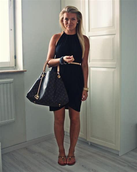 Lv Dress Zara simple black dress belt lv purse i that purse