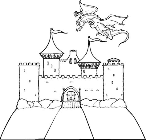 coloring pages castle castle printable coloring pages images
