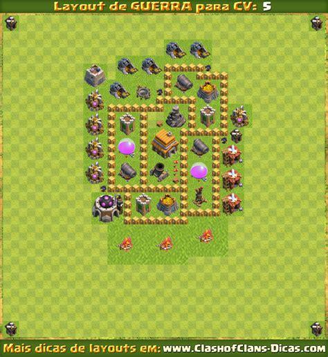 layout cv 5 guerra layouts para cv5 em guerra clash of clans dicas