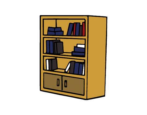 dessin de biblioth 232 que avec tiroirs colorie par membre non