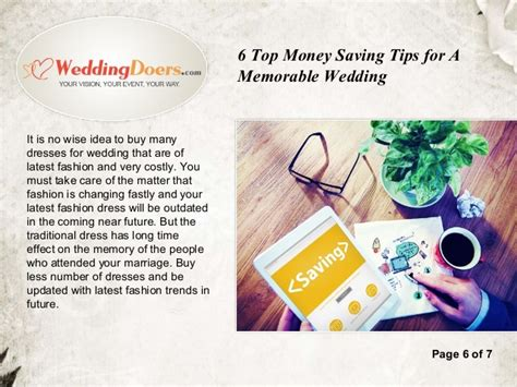 7 Money Saving Tips For Your Wedding by 6 Top Money Saving Tips For A Memorable Wedding