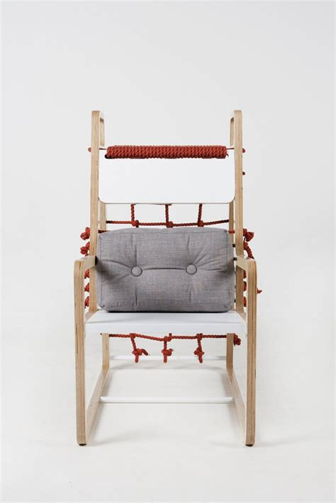 define piggyback seats chair with climbing rope for your children to play