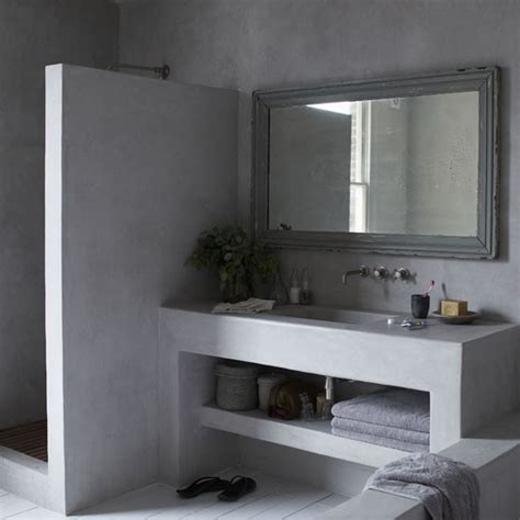 trendy bathroom ideas trendy concrete bathroom bathroom ideas housetohome co uk