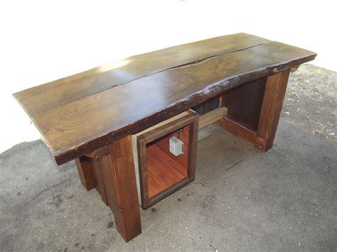 Custom Desk Top by Custom Made Edge Oak Slab Top Desk By Norman