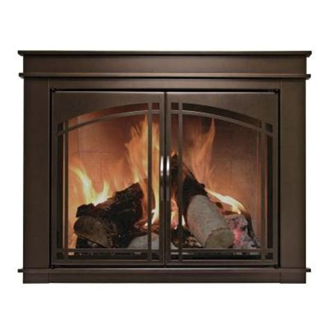 Pleasant Hearth Fireplace Glass Doors Pleasant Hearth Fenwick Medium Glass Fireplace Doors Fn 5701 The Home Depot
