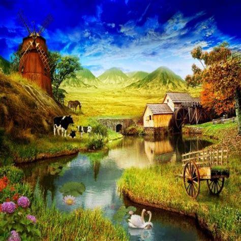 Imagenes Bonitas De Paisajes Naturales | pinturas hermosas de paisajes naturales imagenes para