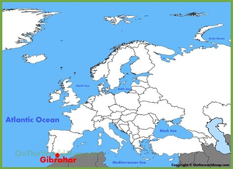 world map gibraltar gibraltar location on the europe map