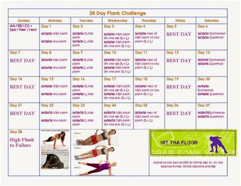 28 day challenge 28 day plank challenge hitthafloor workouts that look