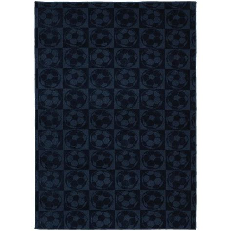 soccer area rug garland rug soccer balls navy 7 ft 6 in x 9 ft 6 in area rug cl260a09011410 the home depot