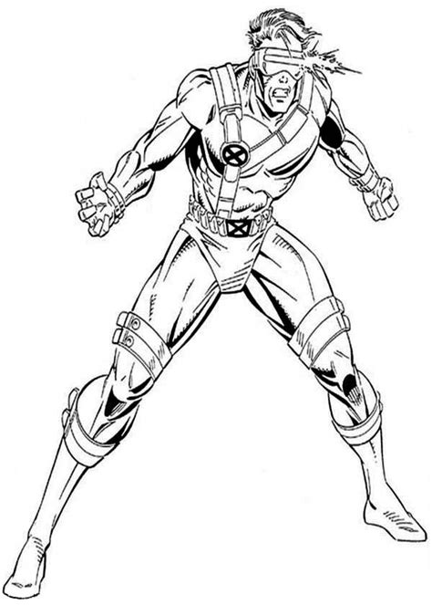 x coloring books cyclops attack coloring page coloring
