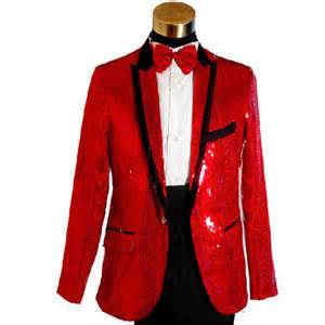 Fancy red sequin slim fit modern dress suits tuxedos men prom wedding