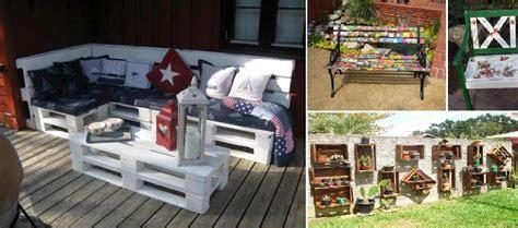 idee per arredare il giardino arredare il giardino con materiale riciclato 5 consigli