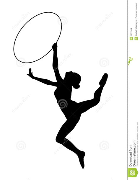 clipart ginnastica ginnastica ritmica icona vectorial illustrazione