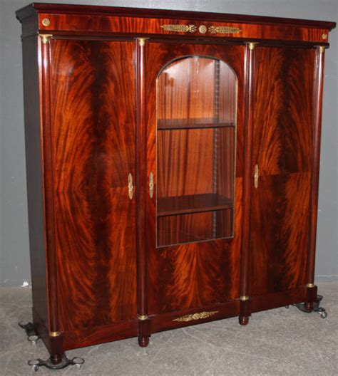 Mahogany China Cabinet For Sale empire crotch mahogany bookcase china cabinet for sale antiques classifieds