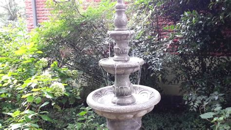 homes  gardens  tier water fountain youtube