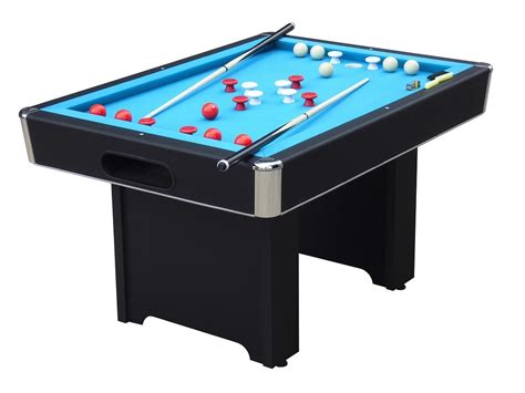 Bumper Pool Table by Hartford Slate Bed Black Bumper Pool Table