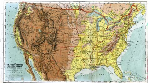 northern united states map the united states southern canada and northern mexico