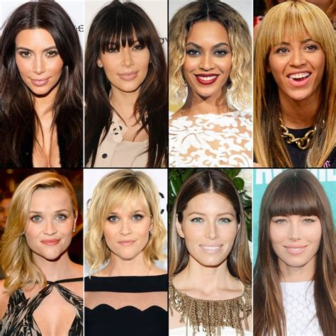people who look better with bangs celebs with bangs and without celeb hairstyles better
