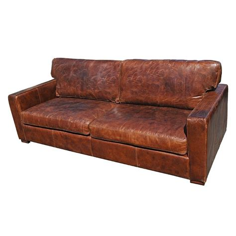 Brown Distressed Leather Sofa Distressed Leather Sofas Worn Leather Sofa