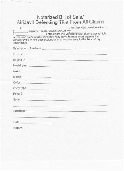 Download Notarized Bill Of Sale Pdf Free Acuinternet Notarized Bill Of Sale Template For Car