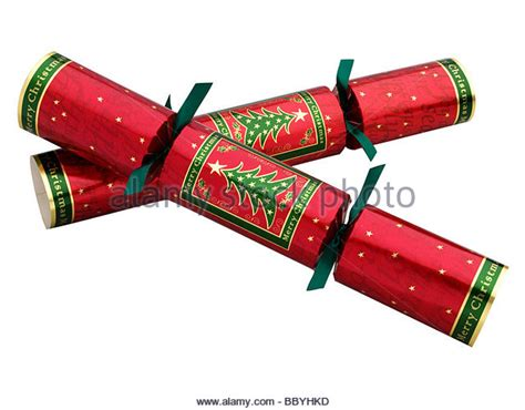 christmas crackers gold stock photos christmas crackers